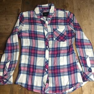 Rails Hunter Button Down Plaid Shirt Womens XS